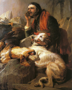 Art Prints of The Life's in the Old Dog Yet by Edwin Henry Landseer
