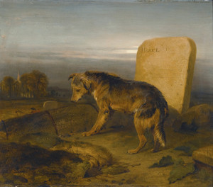 Art Prints of The Poor Dog or The Shepherds Grave by Edwin Henry Landseer