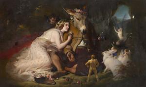 Art Prints of Midsummer Night's Dream, Titania and Bottom by Edwin Henry Landseer
