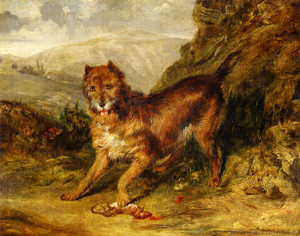 Art Prints of Bob a Favorite Terrier of Mr. W Gosling by Edwin Henry Landseer