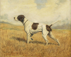Art Prints of Pointer in a Landscape by Edwin Megargee