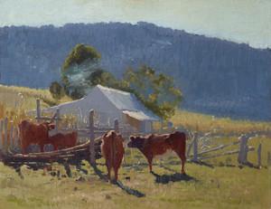 Art Prints of Milking Time, Araluen Valley by Elioth Gruner