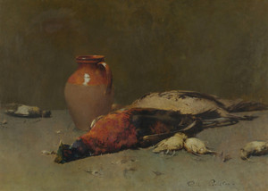 Art Prints of Pheasants and Larks by Emil Carlsen
