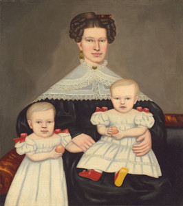 Art Prints of Mrs Paul Smith Palmer and Her Twins by Erastus Salisbury Field