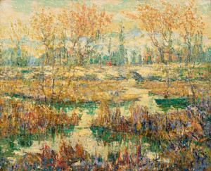 Art Prints of Late Summer, Harlem River by Ernest Lawson