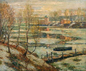 Art Prints of Ice in the River by Ernest Lawson