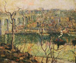 Art Prints of High Bridge, Early Moon by Ernest Lawson