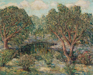Art Prints of Mirror Pool, Florida by Ernest Lawson