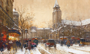 Art Prints of Boulevard Saint Germain, Paris by Eugene Galien-Laloue