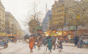 Art Prints of Boulevard of Good News by Eugene Galien-Laloue