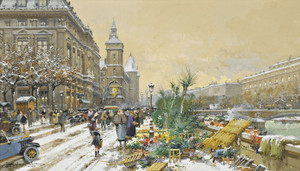 Art Prints of Flower Wharf by Eugene Galien-Laloue