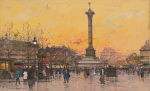 Art Prints of Place de la Bastille by Eugene Galien-Laloue