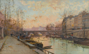 Art Prints of The Seine by Eugene Galien-Laloue