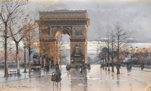 Art Prints of Arc de Triomphe II, Paris by Eugene Galien-Laloue
