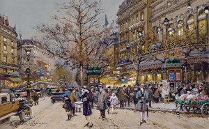 Art Prints of Boulevard Bonne Nouvelle, Paris by Eugene Galien-Laloue