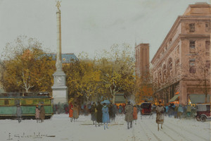 Art Prints of Paris, Place du Chatelet II by Eugene Galien-Laloue