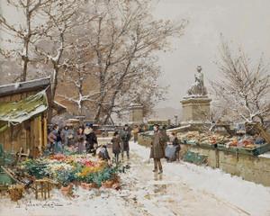 Art Prints of Paris, Un Coin de Quai by Eugene Galien-Laloue