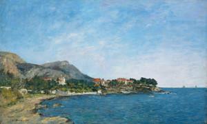 Art Prints of The Bay of Fourmis by Eugene Boudin