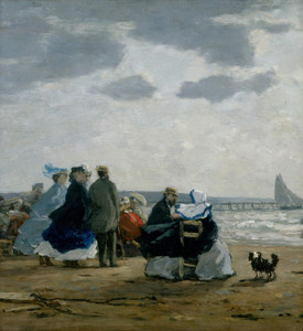 Art Prints of On the Beach, Dieppe by Eugene Boudin