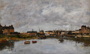Art Prints of Port Trouville by Eugene Boudin