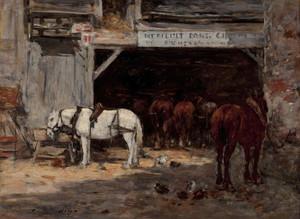 Art Prints of Stall by Eugene Boudin