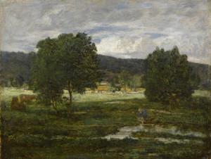 Art Prints of Wooded Landscape by Eugene Boudin