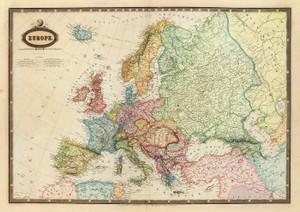 Art Prints of Europe, 1862 (5023021) by F.A. Garnier