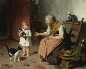 Art Prints of Visiting Grandma by Felix Schlesinger