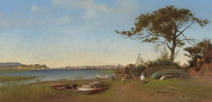 Art Prints of Seabright from Galilee, New Jersey by Francis Augustus Silva