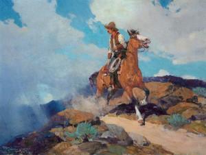Art Prints of Cowboy by Frank Tenney Johnson