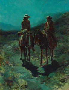 Art Prints of Lovers of the Desert by Frank Tenney Johnson