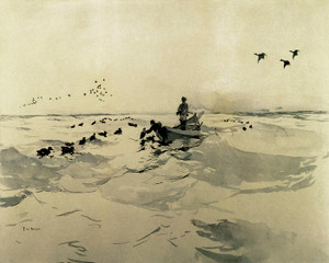Art Prints of Setting Decoys by Frank Weston Benson