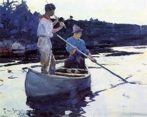 Art Prints of Salmon Fishermen by Frank Weston Benson