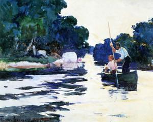 Art Prints of Poling the Canoe by Frank Weston Benson