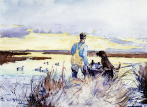 Art Prints of Over Currituck Marshes by Frank Weston Benson
