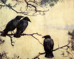 Art Prints of Crows in the Rain by Frank Weston Benson