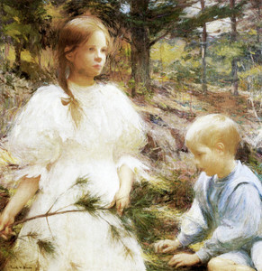 Art Prints of Children in the Woods by Frank Weston Benson