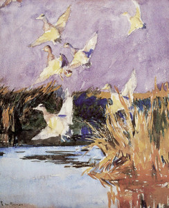 Art Prints of Ducks with Purple Sky by Frank Weston Benson