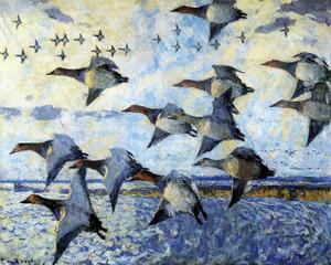 Art Prints of Canvasbacks in Flight by Frank Weston Benson