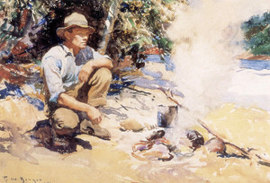 Art Prints of Boiling the Kettle by Frank Weston Benson