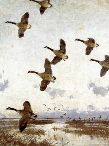 Art Prints of Against the Morning Sky by Frank Weston Benson
