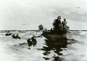 Art Prints of Hunters Setting Decoys by Frank Weston Benson