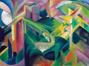 Art Prints of Deer in a Monastery Garden by Franz Marc