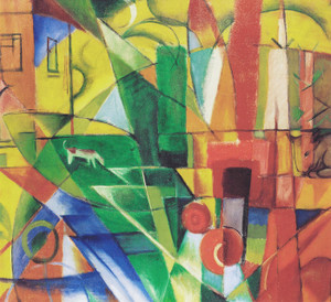 Art Prints of Landscape with House by Franz Marc