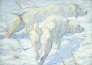 Art Prints of Siberian Dogs in the Snow by Franz Marc