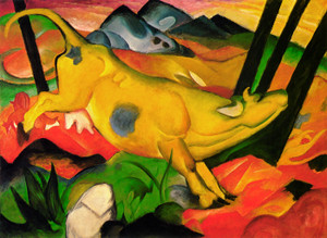 Art Prints of The Yellow Cow by Franz Marc
