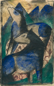Art Prints of Two Blue Horses by Franz Marc