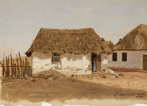 Art Prints of Two Houses in Barranquilla, Columbia by Frederic Edwin Church