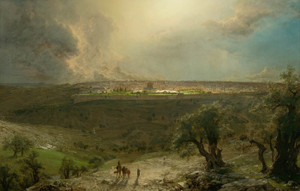 Art Prints of Jerusalem from the Mount of Olives by Frederic Edwin Church