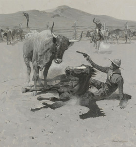 Art Prints of A Critical Moment by Frederic Remington